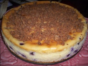 Blueberry Crumb Cheesecake - Raleigh Restaurant Cheesecake